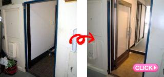 店舗ドア工事(岡山市北区Oネイルサロン様)施工事例#1006