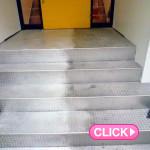 店舗階段の清掃(岡山市北区インターネットカフェメガロ様)施工事例#7053